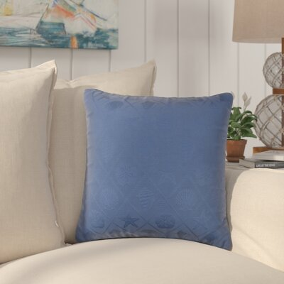 Pierpoint Solid Indoor/Outdoor Throw Pillow Color: Blue