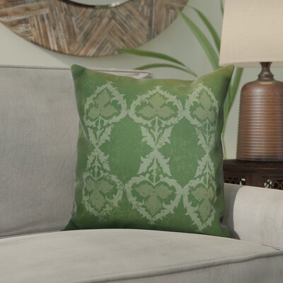 Soluri Geometric Outdoor Throw Pillow Size: 16 H x 16 W x 2 D, Color: Green