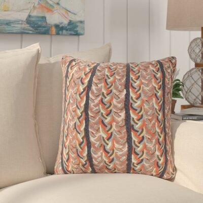Coalton Braided Stripe Indoor/Outdoor Throw Pillow Color: Orange