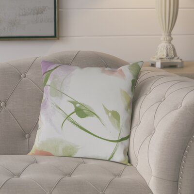 Roscoe Windy Floral Outdoor Throw Pillow Size: 16 H x 16 W, Color: Coral