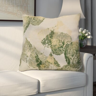 Miller Memories Floral Euro Pillow Color: Green