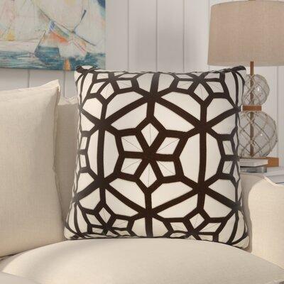 Bonham Geometric Pattern Polyester Throw Pillow Color: Ivory / Black