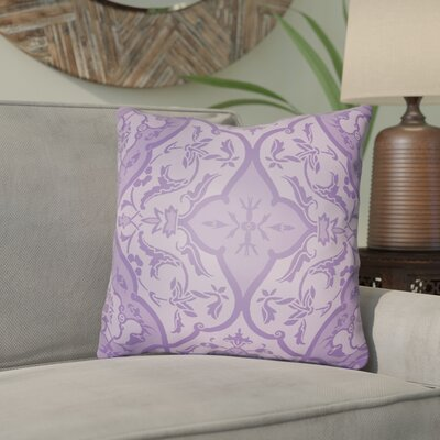 Libchava Floral Throw Pillow Size: 20 H x 20 W x 4 D, Color: Purple