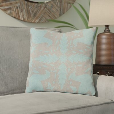 Clayton Throw Pillow Size: 18 H x 18 W, Color: Oatmeal / Robins Egg Blue, Filler: Polyester