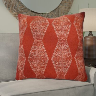 Soluri Pyramid Striped Geometric Euro Pillow Color: Red