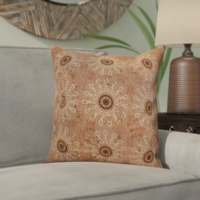 Wellington Tile Geometric Throw Pillow Size: 18 H x 18 W x 2 D, Color: Taupe