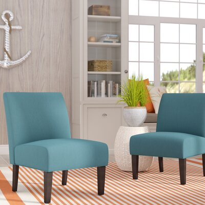 Veranda Slipper Chair Upholstery: Dark Teal