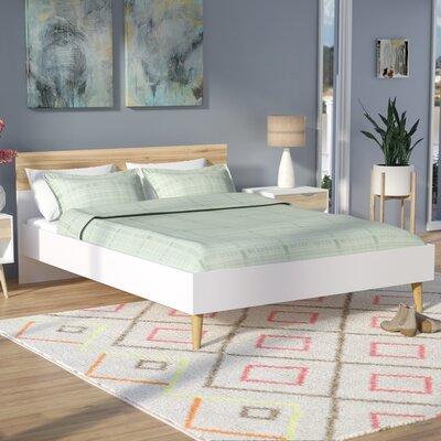 Zephyr Queen Panel Bed Color: White/Oak