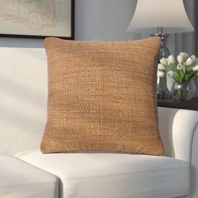 Abraham Texture Coco Soft Burlap Throw Pillow Size: 16 H x 16 W, Color: Topaz