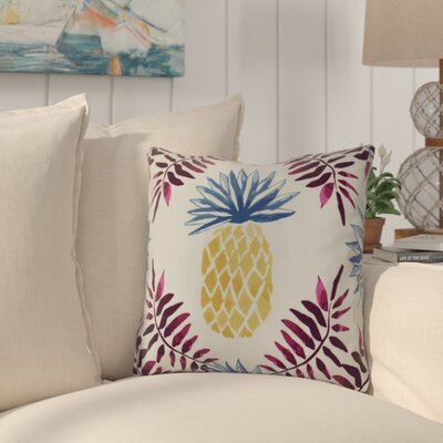 Thirlby Pineapple and Spike Throw Pillow Size: 18 H x 18 W x 3 D, Color: Purple