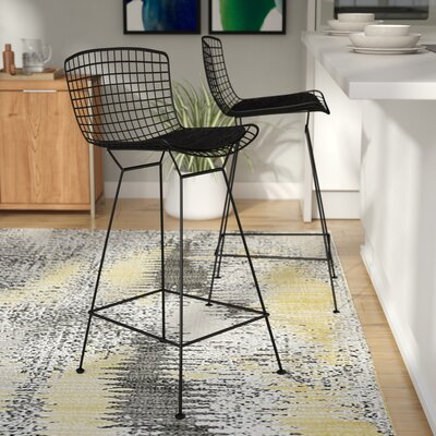 Ellie 26.5 Bar Stool Finish: Black