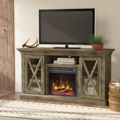 Fischer 53.80 TV Stand with Fire Place in Spanish Gray