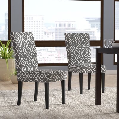 Kinkead Upholstered Dining Chair Color: Gray