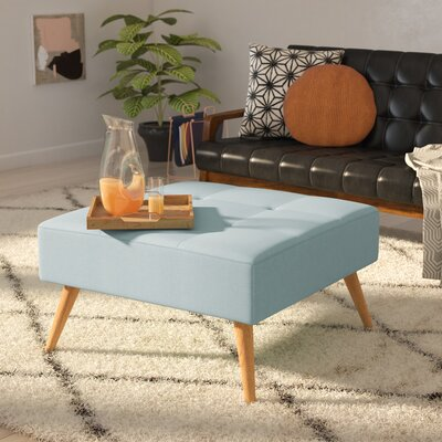 Alcurve Cocktail Ottoman Upholstery: Light Blue