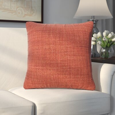 Abraham Texture Coco Soft Burlap Throw Pillow Size: 16 H x 16 W, Color: Coral