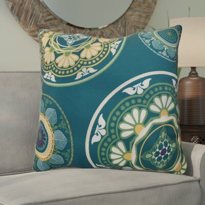 Soluri Medallions Geometric Euro Pillow Color: Teal