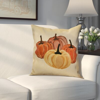 Miller Paper Mache Pumpkins Geometric Throw Pillow Size: 18 H x 18 W x 2 D, Color: Yellow