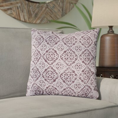 Kody Throw Pillow Size: 20 H x 20 W x 4 D, Color: Mauve / Dark Purple