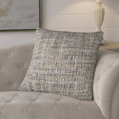 Chaudiere Cotton Pillow Color: Gray