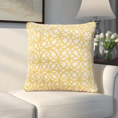 Arana Throw Pillow Size: 26 H x 26 W x 6 D, Color: Gold
