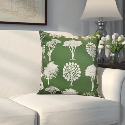 Miller Field of Trees Floral Outdoor Throw Pillow Size: 16 H x 16 W x 2 D, Color: Green