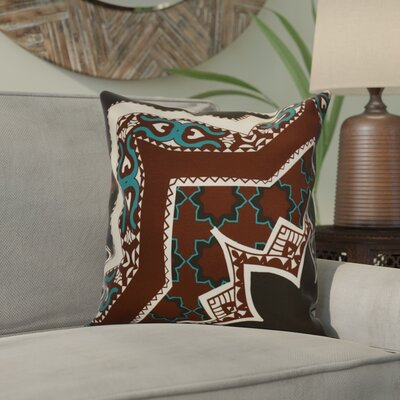 Soluri Rising Star Geometric Outdoor Throw Pillow Size: 16 H x 16 W x 2 D, Color: Brown