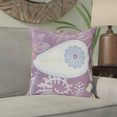 Vinoy Paisley Floral Throw Pillow Size: 26 H x 26 W, Color: Purple