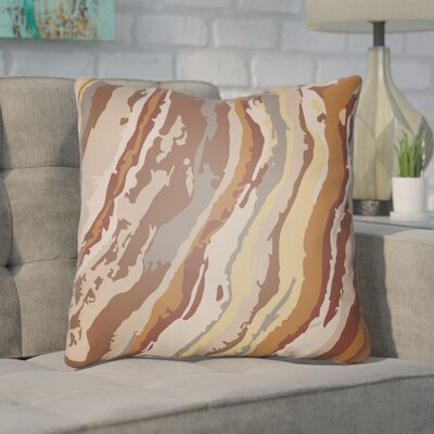 Konnor Throw Pillow Size: 18 H x 18 W x 4 D, Color: Orange
