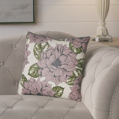 Lyda Square Throw Pillow Size: 18 H x 18 W x 4 D, Color: Mauve