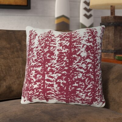 Joulon Hidden Forrest Throw Pillow Size: 16 H x 16 W, Color: Red