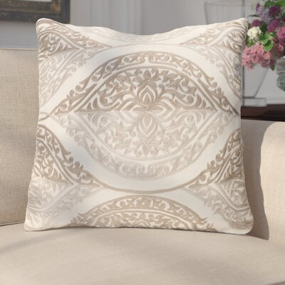 Parish Cotton Throw Pillow Size: 20 H x 20 W x 4 x D, Color: Beige/Camel