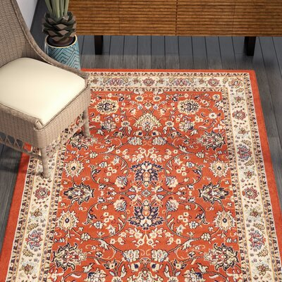 Concord Terracotta Area Rug Rug Size: 5 x 8