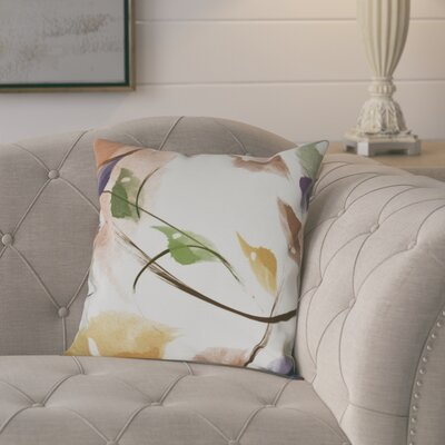 Roscoe Windy Floral Outdoor Throw Pillow Size: 16 H x 16 W, Color: Orange