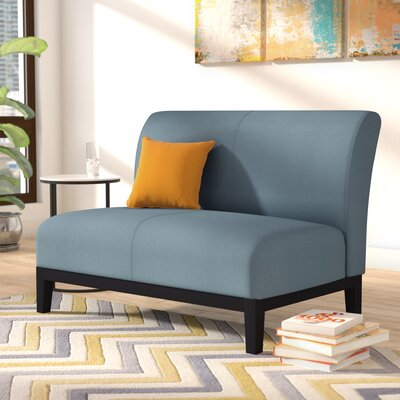Benziger Settee Upholstery: Blue Gray
