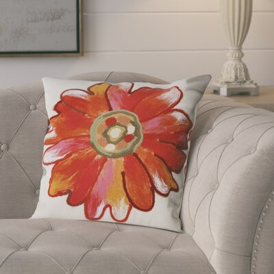 Kara Daisy Outdoor Throw Pillow Size: 20 x 20, Color: Orange