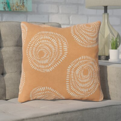 Maryanne 100% Cotton Throw Pillow Size: 18 H x 18 W x 4 D, Color: Coral/Light Gray