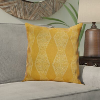 Soluri Pyramid Striped Geometric Throw Pillow Size: 16 H x 16 W x 2 D, Color: Gold