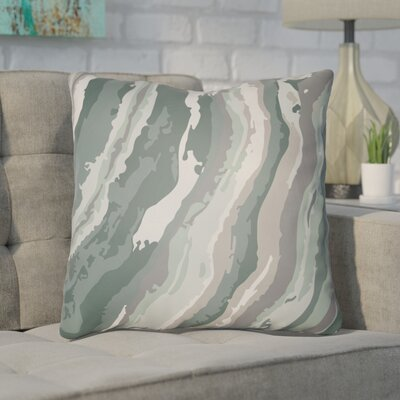 Konnor Throw Pillow Size: 18 H x 18 W x 4 D, Color: Green