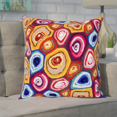 Tengan Murano Swirl Throw Pillow Color: Red