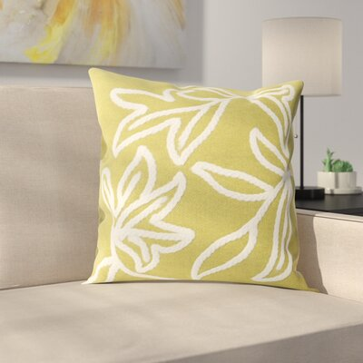 Moana Indoor/Outdoor Throw Pillow Size: 20 x 20, Color: Lime