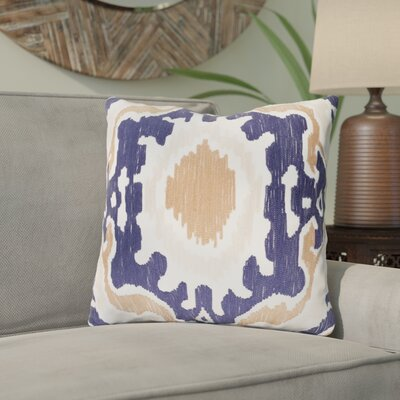 Ayaan 100% Cotton Throw Pillow Size: 20 H x 20 W x 3.5 D, Color: Navy
