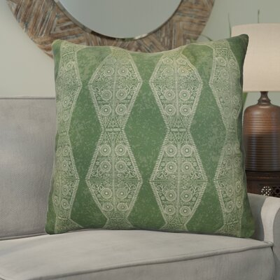 Soluri Pyramid Striped Geometric Euro Pillow Color: Green