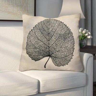 Miller Leaf Study Floral Euro Pillow Color: Black