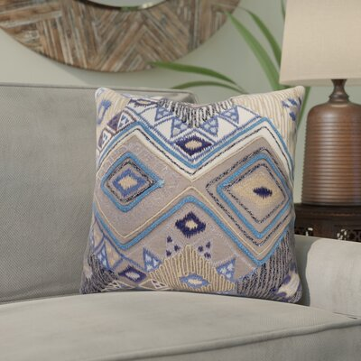 Gauge 100% Cotton Throw Pillow Size: 18 H x 18 W x 3.5 D, Color: Cream
