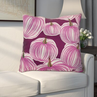 Miller Pumpkins-A-Plenty Geometric Euro Pillow Color: Purple