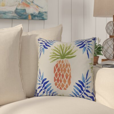 Thirlby Pineapple and Spike Throw Pillow Size: 26 H x 26 W x 3 D, Color: Blue