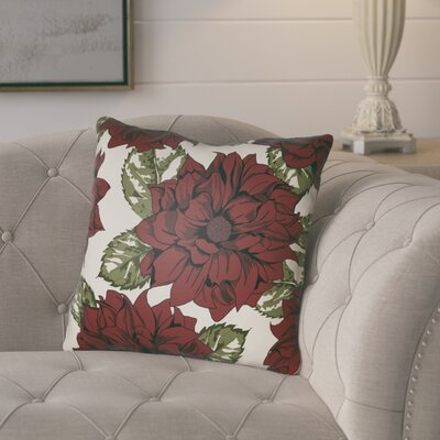 Lyda Square Throw Pillow Size: 22 H �x 22 W x 5 D, Color: Red