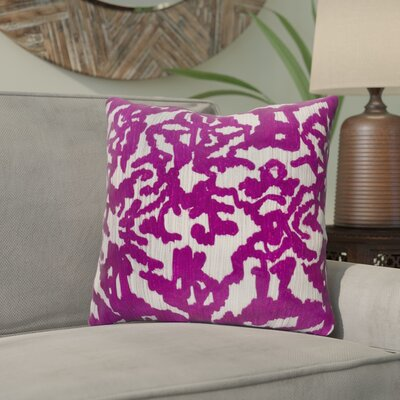 Tatum Throw Pillow Size: 22 H x 22 W x 4.5 D, Color: Purple