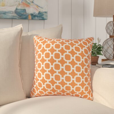 Pierpoint Outdoor Throw Pillow Color: Orange