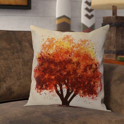 Brookfield Bounty Floral Throw Pillow Size: 18 H x 18 W x 2 D, Color: Brown